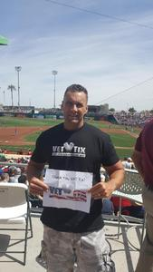 William attended Cleveland Indians vs. Cincinnati Reds - MLB Spring Training on Mar 25th 2018 via VetTix
