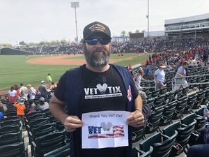 David attended Cleveland Indians vs. Cincinnati Reds - MLB Spring Training on Mar 25th 2018 via VetTix