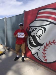Lou attended Cleveland Indians vs. Cincinnati Reds - MLB Spring Training on Mar 25th 2018 via VetTix