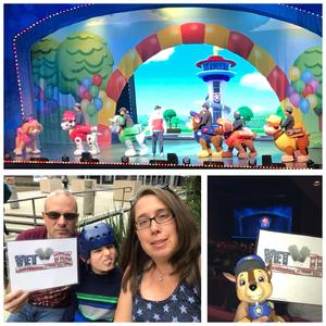 Wyatt attended Paw Patrol Live! Race to the Rescue - Presented by Vstar Entertainment on Apr 21st 2018 via VetTix