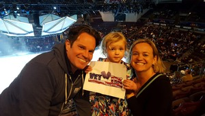 LaCroix Family attended Disney on Ice Frozen - Sunday Evening on Mar 25th 2018 via VetTix