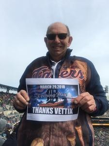 Jerry E attended Detroit Tigers vs. Pittsburgh Pirates - MLB - Opening Day on Mar 29th 2018 via VetTix