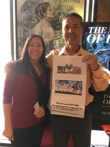 Oscar attended Florencia En El Amazonas Performed by San Diego Opera on Mar 25th 2018 via VetTix