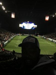 renness attended Chicago Bliss vs. Los Angeles Temptation - Legends Football League - Women of the Gridiron on Apr 14th 2018 via VetTix