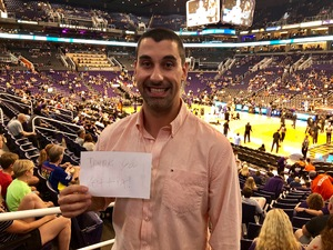 Martin attended Phoenix Suns vs. Sacramento Kings - NBA on Apr 3rd 2018 via VetTix