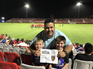 Lance attended Phoenix Rising FC vs. Real Monarchs SLC - USL on Apr 7th 2018 via VetTix