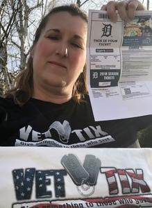 Lynda attended Detroit Tigers vs. Baltimore Orioles - MLB on Apr 18th 2018 via VetTix