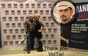 Jerall and Jessica attended Brad Paisley Weekend Warrior World Tour Standing and Lawn Seats Only on Apr 13th 2018 via VetTix