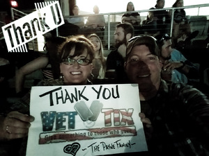 Cynthia attended Brad Paisley Weekend Warrior World Tour Standing and Lawn Seats Only on Apr 13th 2018 via VetTix