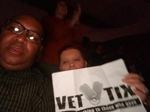 James attended Ruben Studdard Sings Luther Vandross on Apr 14th 2018 via VetTix