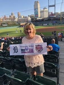 Dawn Brown attended Detroit Tigers vs. Tampa Bay Rays - MLB on May 1st 2018 via VetTix