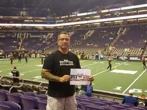 chris attended Arizona Rattlers vs. Green Bay Blizzard - IFL on Apr 21st 2018 via VetTix