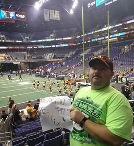 Jeffrey attended Arizona Rattlers vs. Green Bay Blizzard - IFL on Apr 21st 2018 via VetTix