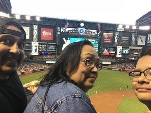 Jacob attended Arizona Diamondbacks vs. San Francisco Giants on Apr 17th 2018 via VetTix