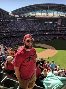 colby attended Arizona Diamondbacks vs. San Francisco Giants on Apr 17th 2018 via VetTix