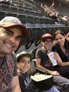 Carlos attended Arizona Diamondbacks vs. San Francisco Giants on Apr 18th 2018 via VetTix