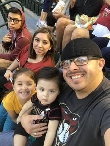 Noe attended Arizona Diamondbacks vs. San Francisco Giants on Apr 18th 2018 via VetTix