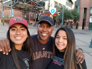 Corey attended Arizona Diamondbacks vs. San Francisco Giants on Apr 18th 2018 via VetTix