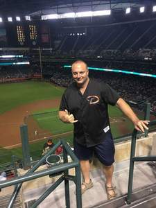 Timothy attended Arizona Diamondbacks vs. San Francisco Giants on Apr 18th 2018 via VetTix