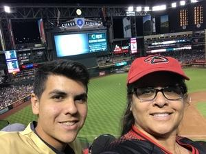 RoseAnne Marquez attended Arizona Diamondbacks vs. San Diego Padres - MLB on Apr 21st 2018 via VetTix