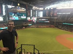 Joshua attended Arizona Diamondbacks vs. San Diego Padres - MLB on Apr 22nd 2018 via VetTix