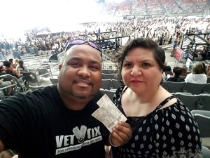Lamont attended Taylor Swift Reputation Stadium Tour on May 8th 2018 via VetTix