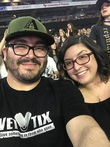 Victor attended Taylor Swift Reputation Stadium Tour on May 8th 2018 via VetTix
