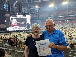 Woodrow attended Taylor Swift Reputation Stadium Tour on May 8th 2018 via VetTix