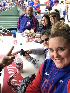 SallyAnn attended Texas Rangers vs. Seattle Mariners - MLB on Apr 22nd 2018 via VetTix