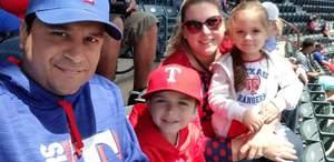 Tony attended Texas Rangers vs. Seattle Mariners - MLB on Apr 22nd 2018 via VetTix