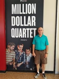 Gene attended Million Dollar Quartet on Apr 21st 2018 via VetTix