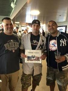 Richard attended New York Yankees vs. Boston Red Sox - MLB on May 9th 2018 via VetTix