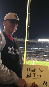 Roy attended New York Yankees vs. Boston Red Sox - MLB on May 9th 2018 via VetTix