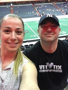 David attended Washington Valor vs. Albany Empire - AFL on May 11th 2018 via VetTix