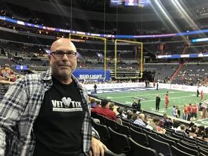 Thomas attended Washington Valor vs. Albany Empire - AFL on May 11th 2018 via VetTix