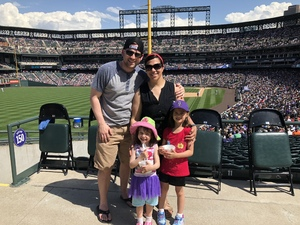 Vanessa attended Colorado Rockies vs. Cincinnati Reds - MLB on May 27th 2018 via VetTix