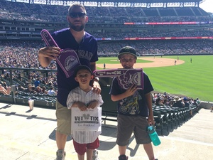 The Comeaus attended Colorado Rockies vs. Cincinnati Reds - MLB on May 27th 2018 via VetTix