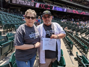 eddie attended Colorado Rockies vs. Cincinnati Reds - MLB on May 27th 2018 via VetTix