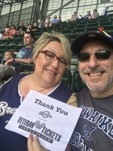 Robert attended Milwaukee Brewers vs. St. Louis Cardinals - MLB on May 29th 2018 via VetTix