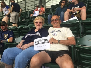 keith attended Milwaukee Brewers vs. St. Louis Cardinals - MLB on May 29th 2018 via VetTix