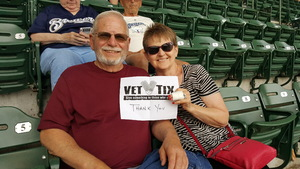 Ed attended Milwaukee Brewers vs. St. Louis Cardinals - MLB on May 29th 2018 via VetTix