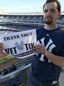 Robert attended New York Yankees vs. Houston Astros - MLB on May 30th 2018 via VetTix