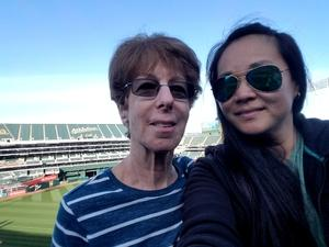 Emily attended Oakland Athletics vs. Baltimore Orioles - MLB on May 4th 2018 via VetTix