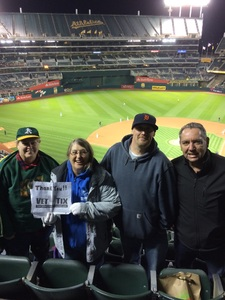 Terry attended Oakland Athletics vs. Baltimore Orioles - MLB on May 4th 2018 via VetTix