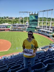 Dawn attended Kansas City Royals vs. Oakland Athletics - MLB on Jun 3rd 2018 via VetTix