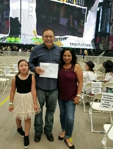 Ramon attended Taylor Swift Reputation Stadium Tour on May 8th 2018 via VetTix