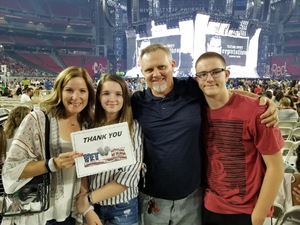 Ward attended Taylor Swift Reputation Stadium Tour on May 8th 2018 via VetTix