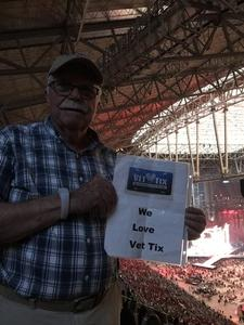 Larry attended Taylor Swift Reputation Stadium Tour on May 8th 2018 via VetTix