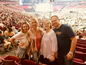 Richard attended Taylor Swift Reputation Stadium Tour on May 8th 2018 via VetTix