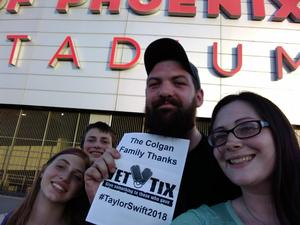 Shawn attended Taylor Swift Reputation Stadium Tour on May 8th 2018 via VetTix